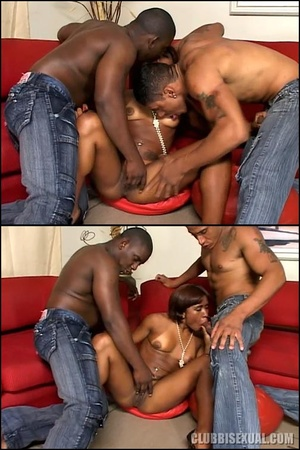 Bisex. Big Cocks Fun in a Black Bi Three - XXX Dessert - Picture 2