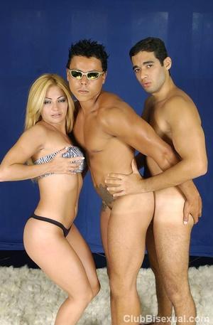 Bi porn. Hot Brazilian Threesome Posing  - XXX Dessert - Picture 15