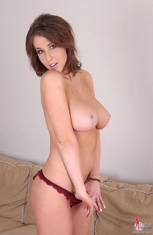 Huge boobs. Brunette babe Caroline C toy - XXX Dessert - Picture 11