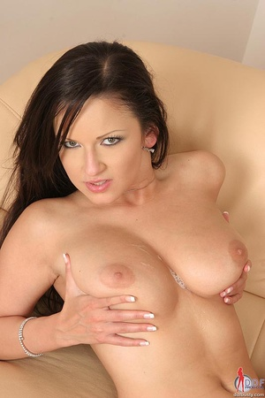 Big breast. Hot busty brunette Lucy gets - XXX Dessert - Picture 16