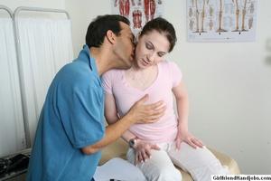 Handjob. Skinny girl gives her man a han - XXX Dessert - Picture 7