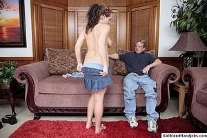 Hand jobs. Two women give a guy handjobs - XXX Dessert - Picture 2