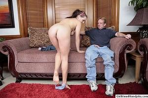 Hand jobs. Two women give a guy handjobs - XXX Dessert - Picture 3