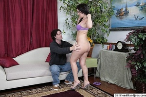 Tug jobs. Horny man gets a handjob from  - XXX Dessert - Picture 7