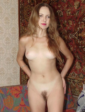 Hairy ladies. Horny blonde babe pulls do - XXX Dessert - Picture 2