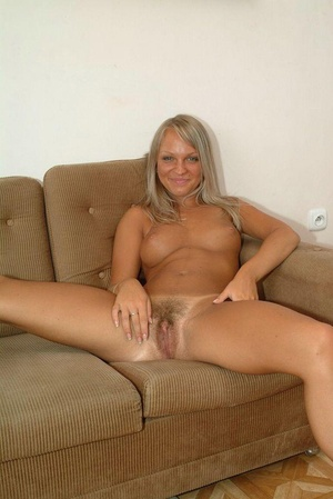 naked blonde with hairy pussy