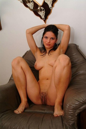 Hairy galleries. Cute babe show off her  - XXX Dessert - Picture 17