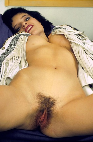 Horny hairy pussy. Slim brunette with pi - XXX Dessert - Picture 12