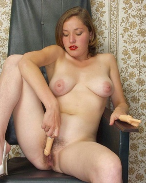 Hairy ladies. Busty babe totally naked a - Picture 3