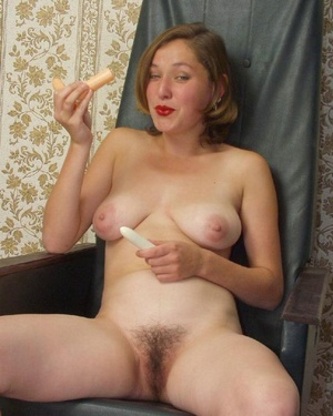 Hairy ladies. Busty babe totally naked a - Picture 9