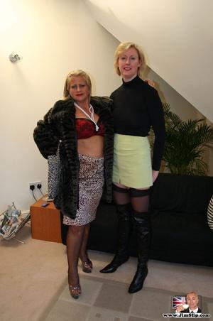 Sexy lingerie. Two filthy London lesbian - XXX Dessert - Picture 1