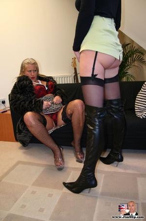 Sexy lingerie. Two filthy London lesbian - XXX Dessert - Picture 3