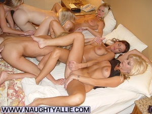 Housewive porn. Orgy With Seven Pussy Ea - XXX Dessert - Picture 11