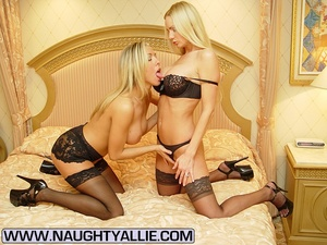 Lesbian porno. Two Busty Blondes Fucking - XXX Dessert - Picture 1