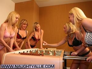 Lesbian galleries. All Girl Strip Foosba - XXX Dessert - Picture 1