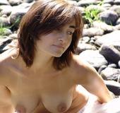 Erotika xxx. Natural Hippie stripping down to show her sexy fuzzy body