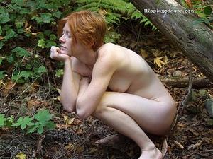 Teen xxx. Naked Redhead Hippie girls sho - Picture 20