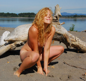 Xxx teen. Natural, hairy, blond hairy hippie goddess strips down at the