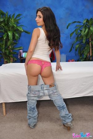 Teen porn. Hot 18 year old brunette gets - XXX Dessert - Picture 4