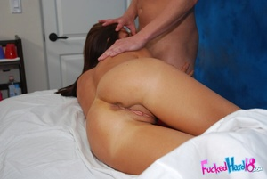 Young porn. Hot brunette fucked hard on  - XXX Dessert - Picture 12