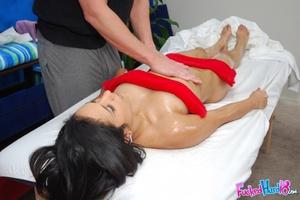 Sex massage. Hot 18 year old Brunette ge - XXX Dessert - Picture 8