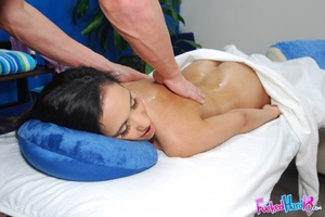 Sex massage. Hot 18 year old Brunette ge - XXX Dessert - Picture 11