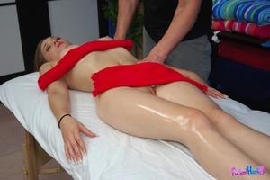 Porn massage. Sexy 18 year old brunette  - XXX Dessert - Picture 9