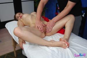 Porn massage. Sexy 18 year old brunette  - XXX Dessert - Picture 10