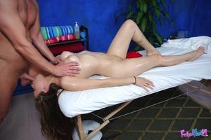 Porn massage. Sexy 18 year old brunette  - XXX Dessert - Picture 11