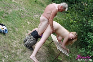 Young old sex. Peeking at enormous breas - XXX Dessert - Picture 13