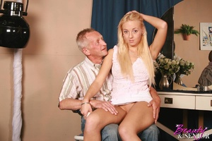 Old young adult. Babe riding a senior ha - XXX Dessert - Picture 4