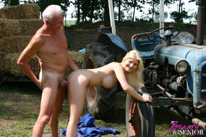 Old and young. Busty blonde beauty enjoy - XXX Dessert - Picture 5