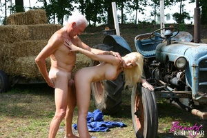 Old and young. Busty blonde beauty enjoy - XXX Dessert - Picture 6