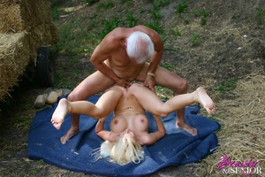 Old and young. Busty blonde beauty enjoy - XXX Dessert - Picture 7