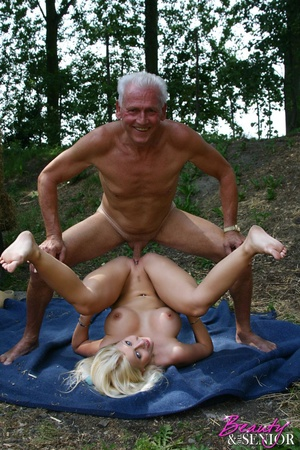 Old and young. Busty blonde beauty enjoy - XXX Dessert - Picture 8