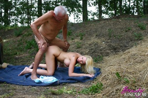 Old and young. Busty blonde beauty enjoy - XXX Dessert - Picture 11