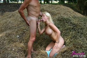 Old and young. Busty blonde beauty enjoy - XXX Dessert - Picture 12
