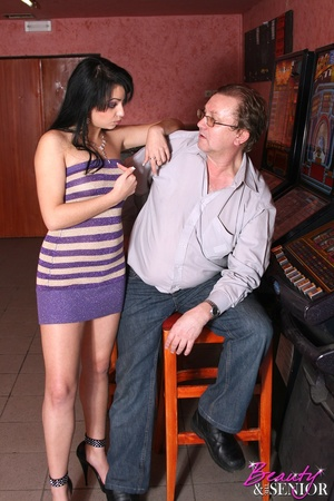 Old and young. Sexy brunette teen babe p - XXX Dessert - Picture 7