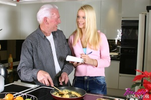 Old men young ladies. Stunning blonde be - XXX Dessert - Picture 1