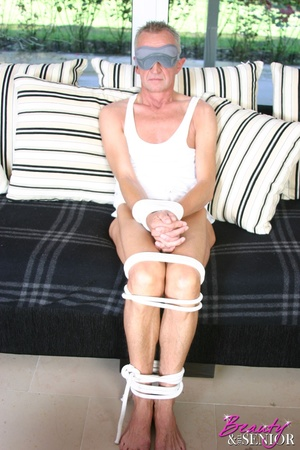 Old and young. Horny senior gets tied up - XXX Dessert - Picture 1