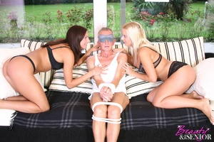 Old and young. Horny senior gets tied up - XXX Dessert - Picture 2