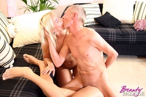 Old and young. Horny senior gets tied up - XXX Dessert - Picture 13