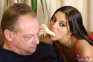 Old young love. Brunette old man fucking - XXX Dessert - Picture 3