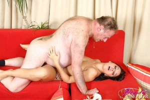 Old young love. Brunette old man fucking - XXX Dessert - Picture 13