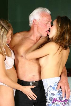 Old young sex. Horny grey senior enjoys  - XXX Dessert - Picture 7