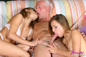 Old young sex. Horny grey senior enjoys  - XXX Dessert - Picture 10