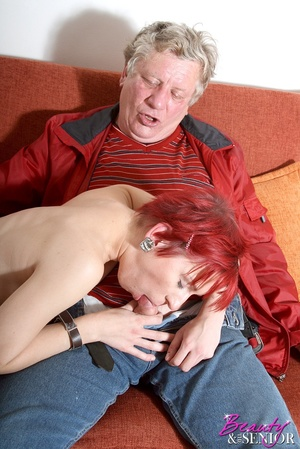 Old young. Grey old man loves pounding a - XXX Dessert - Picture 8