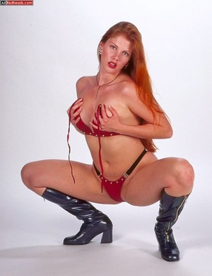 Nude redhead. Horny redhead with flaming - XXX Dessert - Picture 8