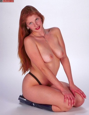 Nude redhead. Horny redhead with flaming - XXX Dessert - Picture 9