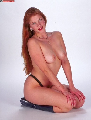 Nude redhead. Horny redhead with flaming - XXX Dessert - Picture 14
